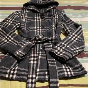 Women's Plaid Coat. EUC!